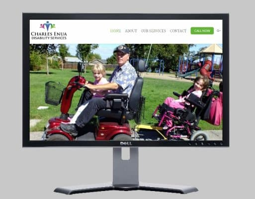 Charles Enua Disability Services-Websites by web designer Angie from Fast Cheap Websites Melbourne Sydney Brisbane Adelaide Perth Gold Coast